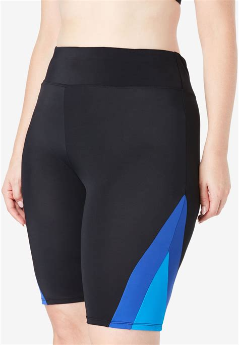 colorblock swim shorts  size separates woman