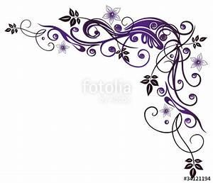 Umrandungen Vorlagen Kostenlos : ranke flora blumen bl ten lila violett stockfotos und lizenzfreie vektoren auf fotolia ~ Orissabook.com Haus und Dekorationen