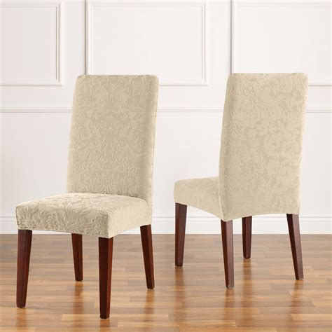 sure fit slipcovers chair sure fit slipcovers stretch jacquard damask dining