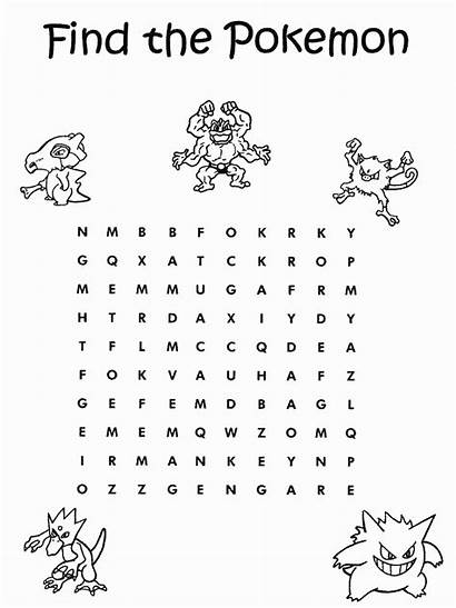 Coloring Pokemon Pages Word Printable Halloween Grandparents