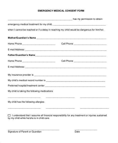 free printable medical consent form for grandparents grandparent medical release