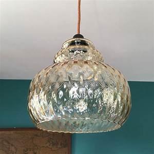 Suspension Globe Verre : suspension ancienne en verre ~ Teatrodelosmanantiales.com Idées de Décoration