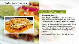 Recipe layouts ppt template slide ocean for Recipe powerpoint template