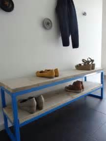 Bank Aus Bauholz by Quot Netland Quot Bauholz Bank Mit Stahlrahmen Wood Design