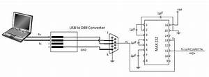 Usb Serial Communication To Max232 Circuit