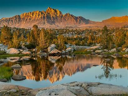 Sierra Mountains Eastern Pond Trees Resolutions Wallpapers