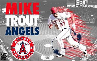 Baseball Angels Trout Mike Anaheim Wallpapers Desktop