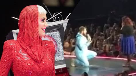 man disguised  left shark proposes   stage