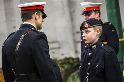royal marines volunteer cadet corps receive berets