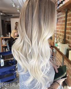 Ombre Balayage Platinum Blonde Long Hair Hair