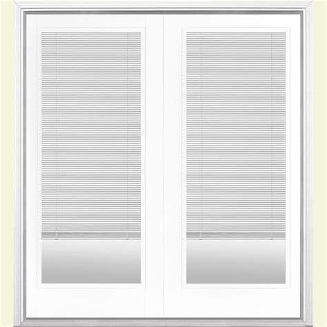masonite patio doors with mini blinds masonite 72 in x 80 in ultra white prehung left