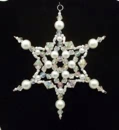 snowflake ornament white pearl and clear ab christmas ornaments