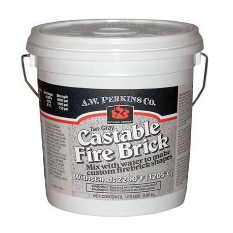 aw perkins  castable fire brick refractory cement