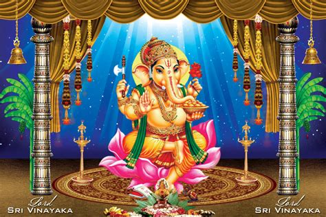lord ganapathi hd photo background psd template naveengfx