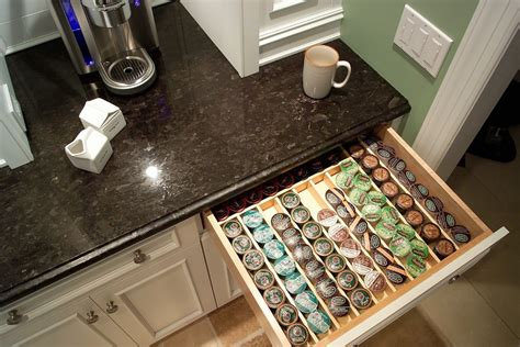 k cup drawer organizer innovative keurig k cup holder in kitchen traditional with