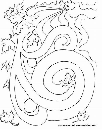 Wind Coloring Pages Maze Leaf Blowing Activity