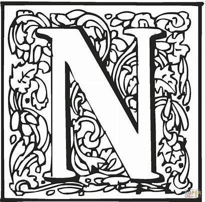 Letter Coloring Pages Block Fancy Letters Alphabet