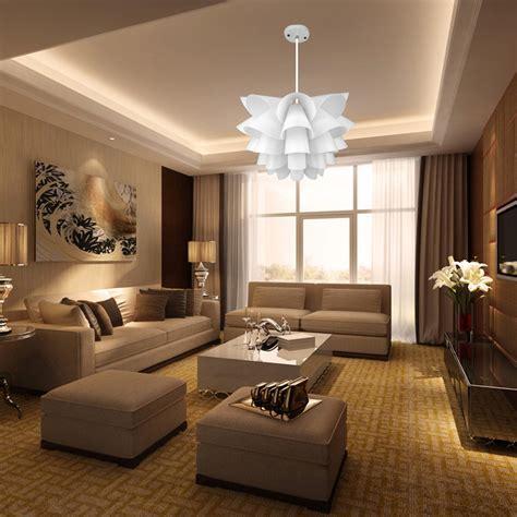 new diy lotus ceiling light pendant l chandeliers shade
