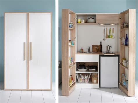 cacher une cuisine ouverte aménager une cuisine dans moins de 6 m2 c 39 est possible