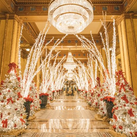 The Roosevelt New Orleans Hotel's Christmas Display  Daily Mail Online