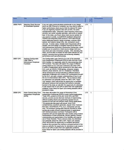sample class list template   documents