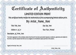 Limited edition template for Limited edition print certificate of authenticity template