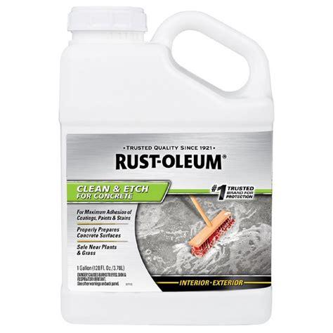 rust oleum  gal concrete etch  cleaner