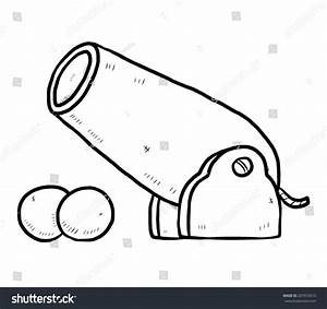 Ancient Cannon / Cartoon Vector And Illustration, Black ...