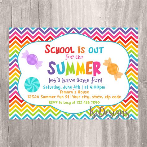 End of the Year Party Invitation Summer Party School's Etsy