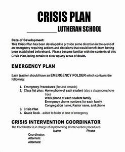 9 crisis plan templates free sample example format With mental health crisis management plan template