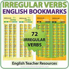 Irregular Verbs In English  Bookmarks  Woodward English