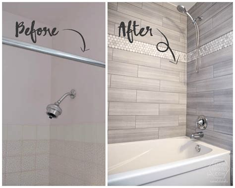 Bathroom Tile Ideas On A Budget by Remodelaholic Diy Bathroom Remodel On A Budget And