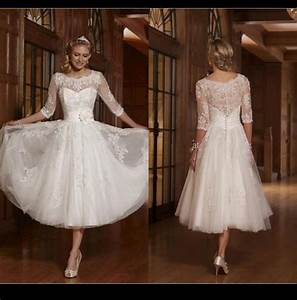 Long sleeve a line white 2015 short wedding dresses scoop for Short white wedding dress with sleeves