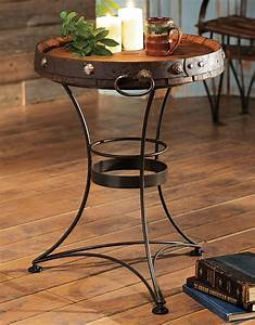 Western, Furniture, Tequila, Barrel, End, Table