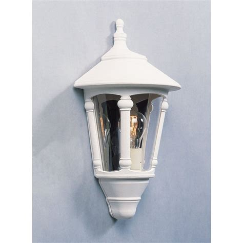 konstsmide virgo single light outdoor half wall lantern in matt white konstsmide from