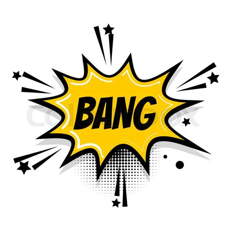 Lettering Bang Boom Star Comics Book Stock Vector