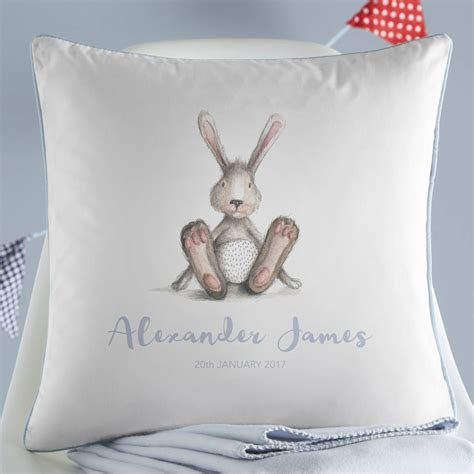 personalised cusion personalised new baby bunny cushion by koko blossom