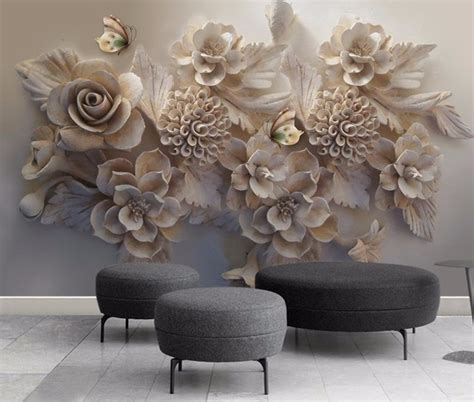 custom large wallpapers  living room stereoscopic