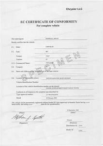 Certificat De Conformité Mercedes : certificat de conformit chrysler coc certificat de conformit europ en chrysler car 39 s certif ~ Gottalentnigeria.com Avis de Voitures