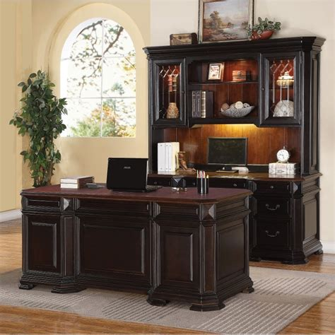 two desks two tone executive wood office desk eastchester rc