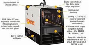 Hobart 500562 Champion Elite Acdc Arc Welder Ac Generator Free Shipping  500562