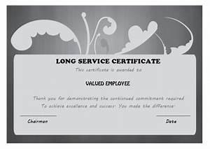 12 free long service award certificate samples wordings With long service certificate template sample