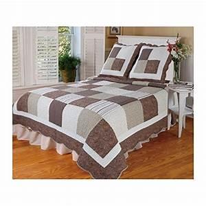 Couvre Lit Patchwork : boutis couvre lit patchwork bronze 230x250 ~ Teatrodelosmanantiales.com Idées de Décoration