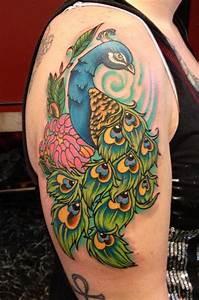 Amazing Peacock Tattoo Will Offer You Seductive Look