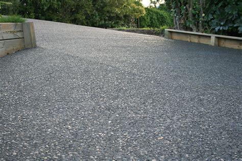 exposed aggregate concrete driveways buchheit construction