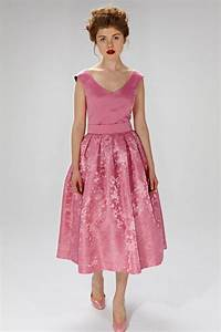 pink wedding dress 50s inspired dress chic wedding dress With plus size 50s wedding dress
