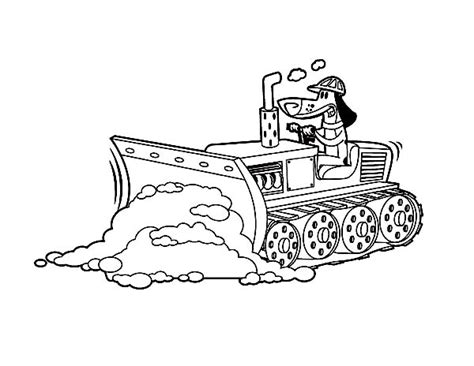 We hope you will have as much pleasure coloring them as we had drawing them! Bulldozer Pulling Dirt in Digger Coloring Page | Color Luna