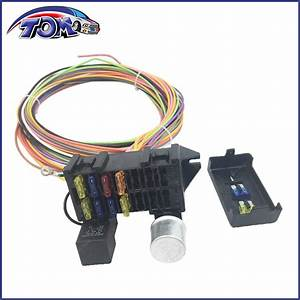 10 Circuit Basic Wire Harness Fuse Box Street Hot Rat Rod
