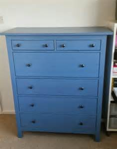 blue ikea hemnes chest of 6 drawers ebay