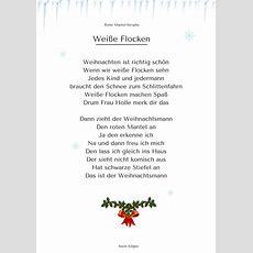 """""""weiße Flocken"""" (3)  Weihnachtsgedicht & Lied  Mp3 Hören"""